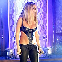 Aubrey Oday stage outfit cameltoe